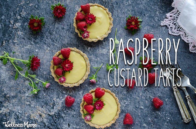 raspberry custard tarts recipe