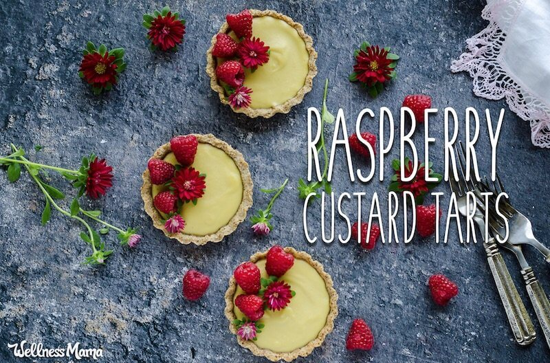 raspberry custard tarts recipe