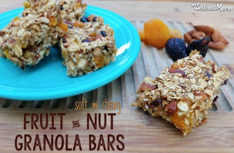soft chewy fruit nut granola bars