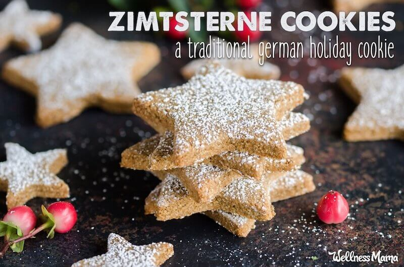 German Christmas Cookies.Zimtsterne Cookie Recipe